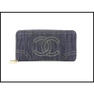 Chanel Sparkling Denim Round Wallet