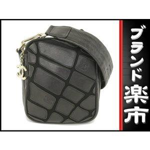 Chanel Lam Leather Shoulder Bag Black S Metal
