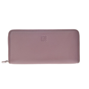 Used Loewe Round Zipper Long Purse Leather Box