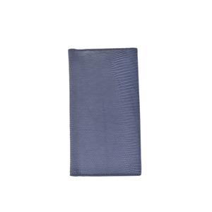 ボッテガ・ヴェネタ(Bottega Veneta) 中古 ボッテガヴェネタ 二ツ折長財布 リザード ブルー系 箱 BOTTEGA VENETA