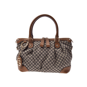 Used Gucci Diamante Handbag Canvas / Leather