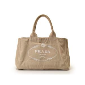 プラダ(Prada) プラダ・PRADA カナパ トートバッグ キャンバス ベージュ