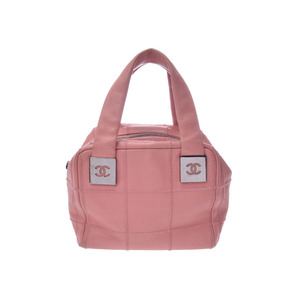 Used Chanel Chocolate Bar Mini Boston Bag Soft Caviar Pink a58b181789a1f