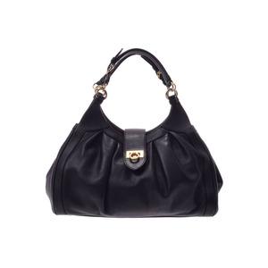 Salvatore Ferragamo Used Ferragamo 2 Way Handbag Leather With Black Strap