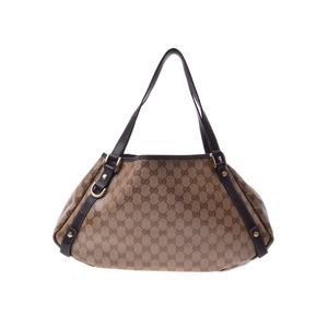 Used Gucci Semi-shoulder Bag Gg Pattern Pvc Leather Beige Type Outlet Product