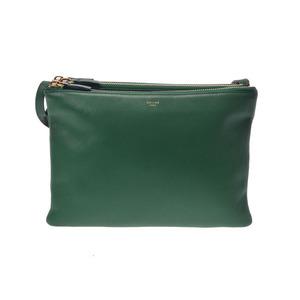 Celine Shoulder Bag Trio Leather Green