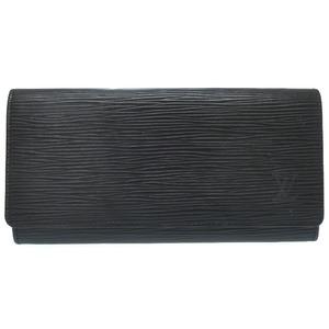 Louis Vuitton Epo Noir Porto 3 Cart Credie M 63532 Wallet Long Lv 0252