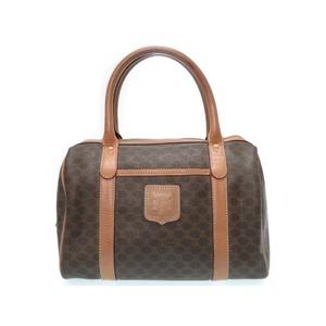 Celine Pearl Patterned Brown Pvc Leather Handbag Ladies' Bag Vintage 0511