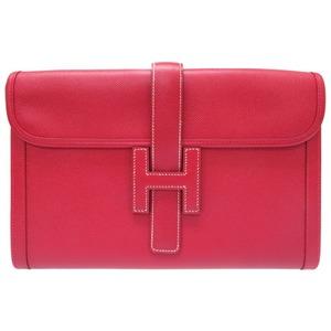 Hermes Jiger Pm Kushubel Rouge System Clutch Bag ○ Y Engraved (Made In 1995) 0116