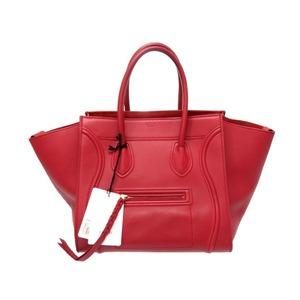 Celine 1 Small Square Luggage Phantom Handbag 169953 M Calf Red 0185 Celine Bag