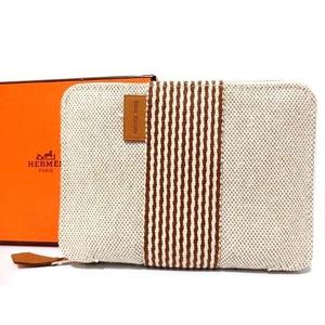 Hermes New Furtou Perth Pn Round Zipper Wallet 0551 Unisex
