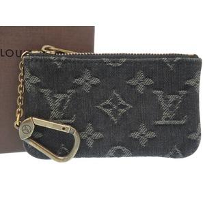 Louis Vuitton Monogram Denim Pochette Kurenoir M95616 Coin Case Lv 0200