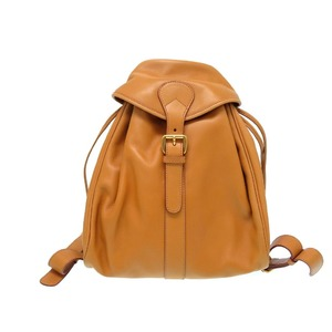 Gucci Leather Backpack Bag Camel Vintage 0435 Gucci