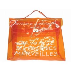 Hermes Vinyl Kelly Handbag Orange Bag 0209