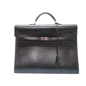Hermes Kelly Depeche 37 Business Box Calf Document Bag Black □ K Engraved 0075