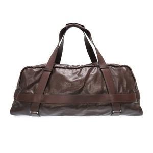 Hermes Arion Boston Bag Coating Canvas Brown □ M Engraved 0269