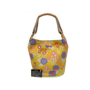 Chanel Flower Canvas Shoulder Bag Yellow 0054 Chanel