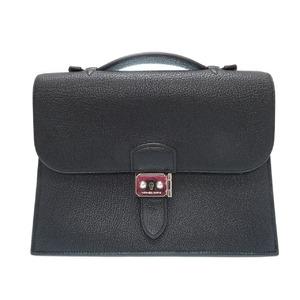 Hermès Suck Adeppech 27 Clutch Bag Second Fjord Black □ L Engraved 0076 Hermes