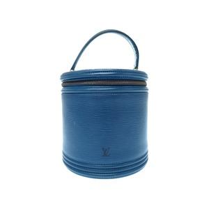 Louis Vuitton Epi Cannes M48035 Vanity Bag Handbag Blue Lv 0270