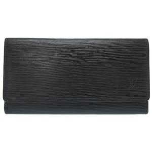 Louis Vuitton Epo Noir Portoen 3 Cult Credit Wallet M63532 Lv Solid Black 0264