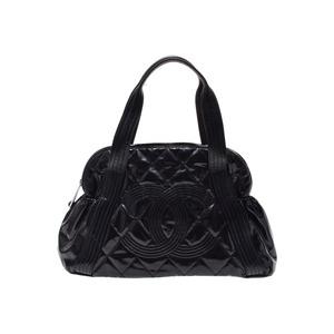 Chanel Boston Bag Vinyl Black
