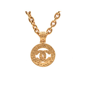 シャネル(Chanel) 中古 シャネル ネックレス ココマーク GP金具 94年モデル 箱 CHANEL