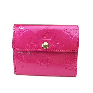 Auth Louis Vuitton Vernis M91244 Women's Vernis Coin Purse/coin Case Fuchsia Pink Used