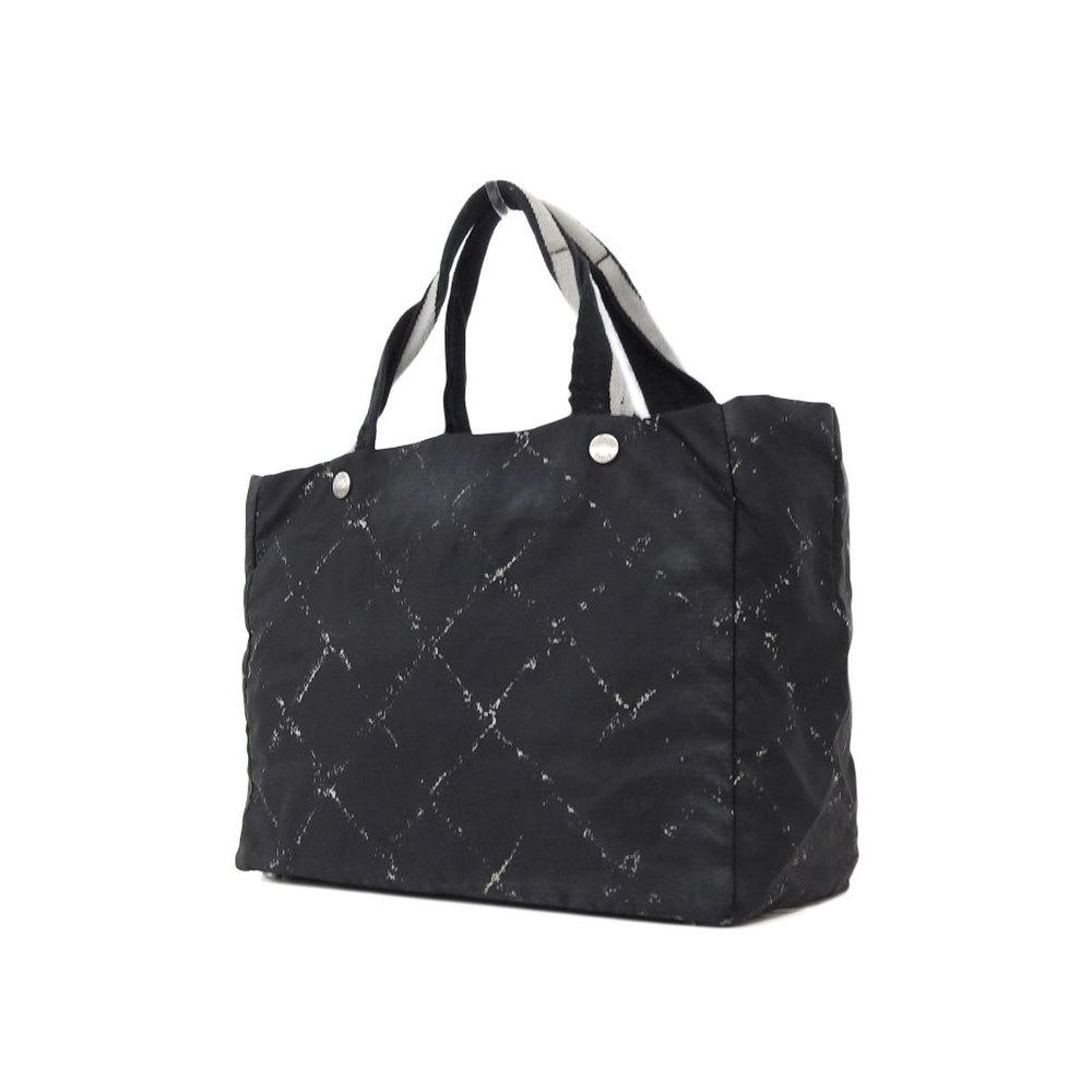 Chanel Travel Line Nylon Tote Bag Black d7e46524fc917