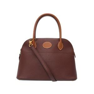 Hermes Boledo 27 Bicolor Havana Gold Cushbell 2way Handbag □ A With Stamping Strap 0411 Hermes