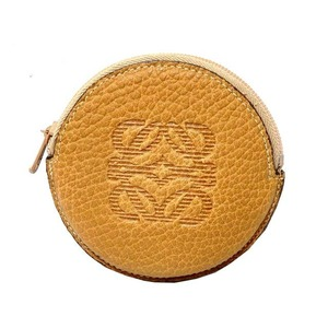 Loewe Amazonas Leather Coin Case Purse Brown 0119 Unisex