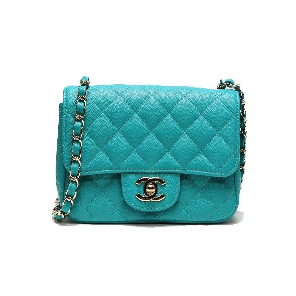 Chanel Green A35200 Women s Caviar Leather Shoulder Bag Emerald Green bea05b21f0