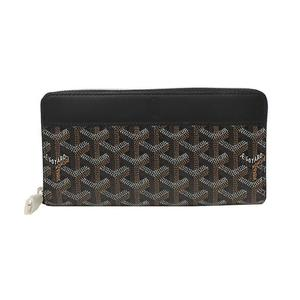 Goyar Goyard Round Zipper Long Wallet Apmzip-gm-01 Black Womens