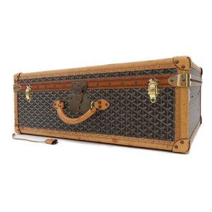 Goyard Goyar Herringbone Attache Case Travel Bag Leather