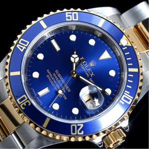 Rolex Submariner Date 16613 Automatic Winding K18ss Blue Sub Roulette V Number Watch Mens Finished