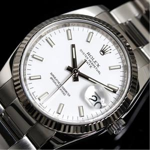 Rolex Perpetual Date 115234 Automatic Winding White Roulette M Number Men's Watch Finished