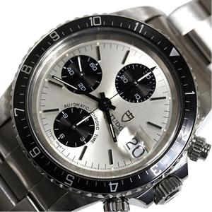 Tudor Chrono Time 79170 Automatic Winding Silver Chronograph Mens Watch Finished