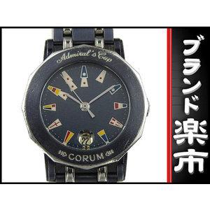 Corum Admirals Cup Gun Blue Ladies Quartz Wrist Watch 39.130.30 V 585 Dial