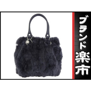Celine Cerrine Fur Tote Bag Dark Gray