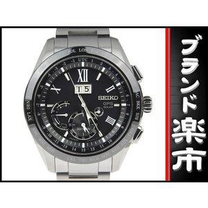Seiko Astron Men's Solar Watch Sbxb 137 8 X 42 - 0 Ab Black Letterboard