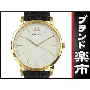 Seiko Credor K18pg Signo Quartz Watch 8j81-0ah0 White Dial 39.9 G