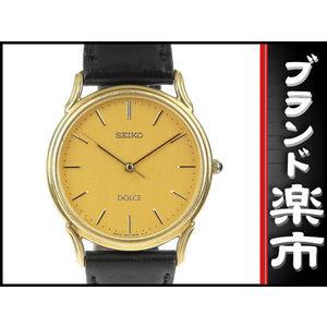 Seiko K18yg Dolce Mens Quartz Wrist Watch 5e 61 - A 10 Gold Dial