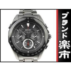 Seiko Radio Wave Control Men's Solar Watch 8b82-0aa0 Black Letterboard