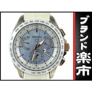 Seiko Astron Mens Gps Solar Wrist Watch Sbxb 063 8x53 - 0 Aj 2 Blue Shell Dial