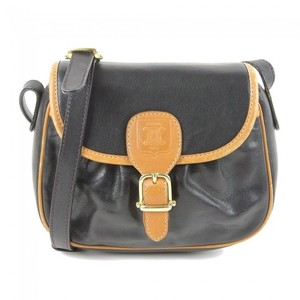 Celine Blazon Engraved Leather Shoulder Bag