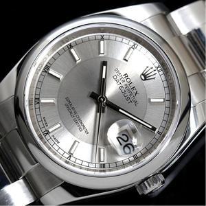 ロレックス ROLEX  デイトジャスト  116200 自動巻き シルバー ルーレット M番 メンズ 腕時計 仕上げ済み