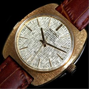 Seiko Observatory Chronometer 4520-8020 Hand Winding Gold Pure Antique Men's Wrist Watch Rare