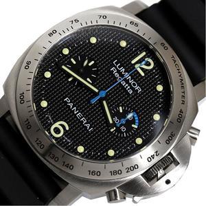 Panerai Luminor Regatta Chronograph Pam00308 Limited 500 Hand Winding Black Men's Watch Finished
