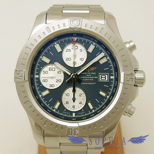 Breitling Automatic Blue Dial Wrist Watch With Colt Chronograph
