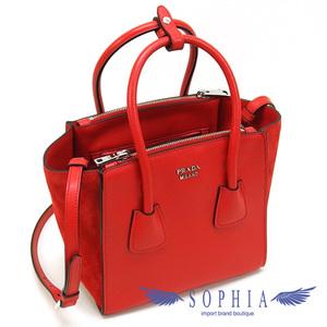Prada 2way Mini Tote Bag 1ba025 Red