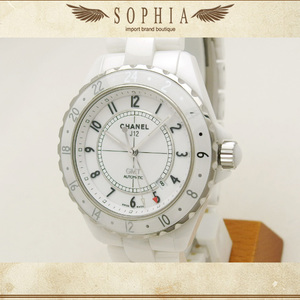 Chanel J12 White Ceramic Gmt H2126 42mm Wrist Watch